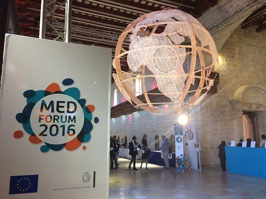 Συμμετοχή στο Mediterranean Forum του Δικτύου Anna Lindh στη Μάλτα, 23-25/10/2016