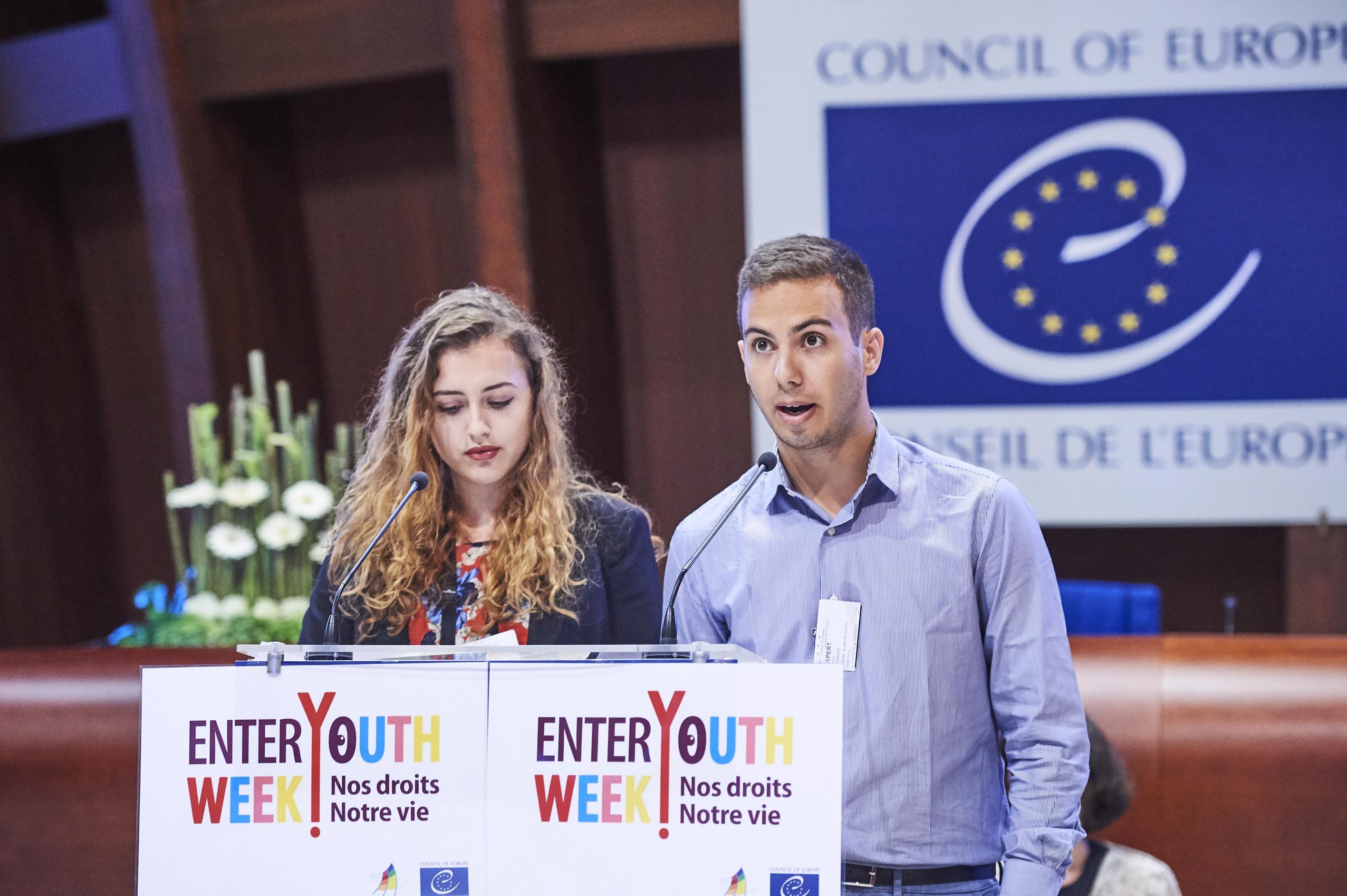 """Εκπροσώπηση του Ομίλου μας στο """"Enter!YouthWeek"""" του Συμβουλίου της Ευρώπης"""